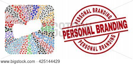 Vector Mosaic Yemen Map Of Different Pictograms And Personal Branding Badge. Mosaic Yemen Map Create