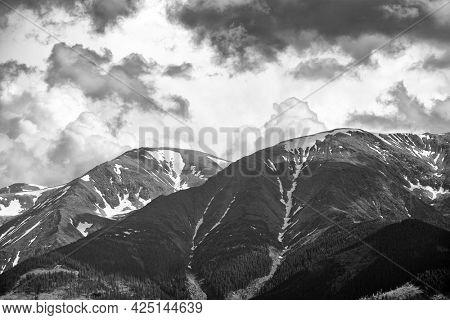Stormy alpine landscape in the Fagaras Mountains, Romania, Europe