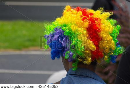 Colorful Hair At The Annual Gay Parade In Graz, Austria