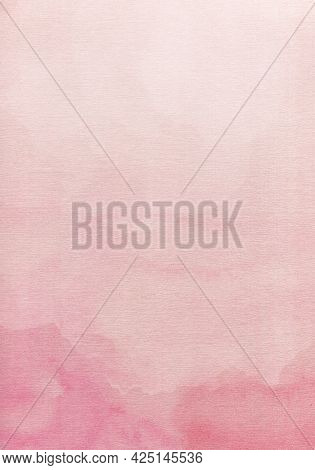Abstract Pink Watercolor Background. Watercolor Background For Invitations, Cards, Posters. Texture,