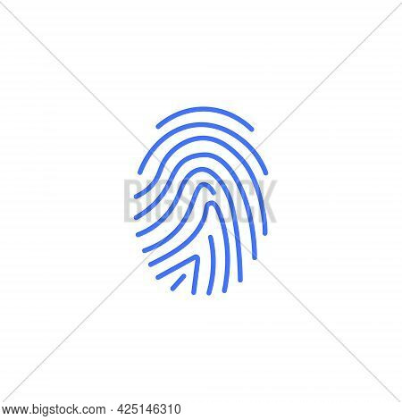 Fingerprint Scan App Biometric Logo Icon. Finger Id Mobile Abstract Unique Vector Touch