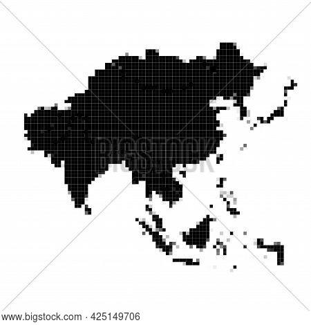 Europe Pixel Vector Map. Square Dot Pixel Europe Map Background