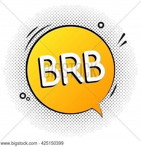 Brb Talk Vector World Graphic Icon. Retro Brb Talk Speech Bubble Icon
