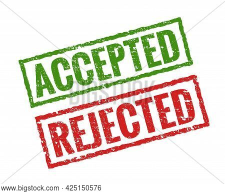Accepted Rejected Stamp Icon. Aproved Secret Modern Rubber Stamp Design