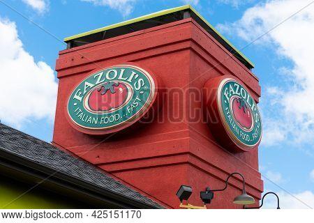 Fazoli's Italian Restaurant Exterior And Trademark Logo
