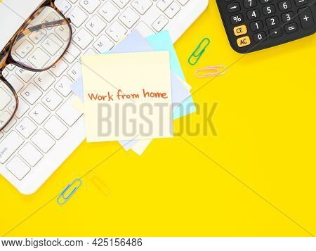Yellow Sticky Paper Write A Handwritten Message