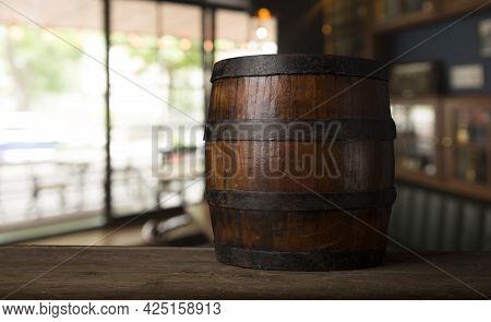 A Wine Cellar Full Of Barrels Of Wine