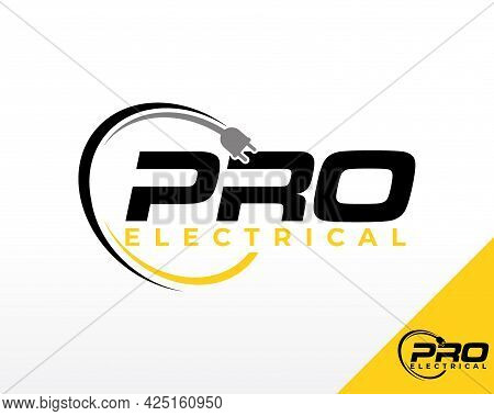 Electric Logo. Electrical Power Logo Design Vector Inspiration