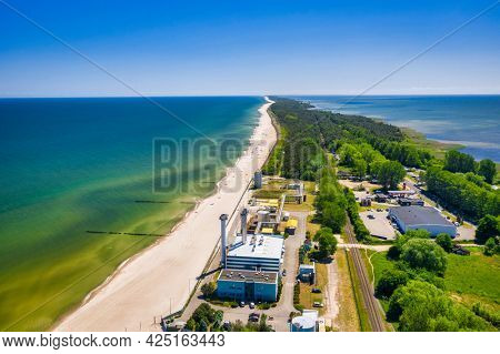 Coastline of Baltic Sea with beautiful beaches in Wladyslawowo at summer, Poland