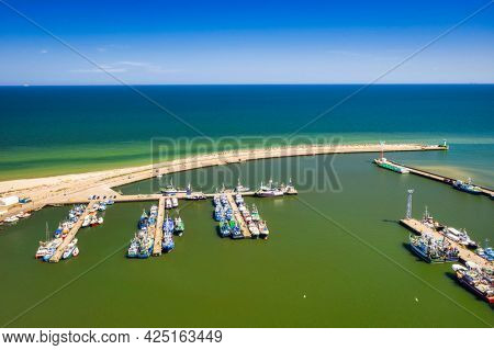 Port of Wladyslawowo at the Baltic Sea in summer, Poland