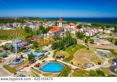 Beautiful Wladyslawowo city at the Baltic Sea in summer, Poland.