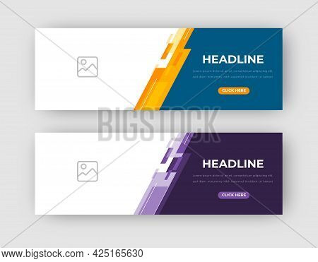 Vector Abstract Design Banner Web Template. Set Of Design Banner Web Template. Vector Design Banner
