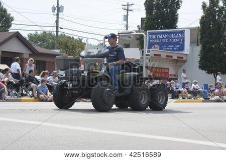 Seymour Polaris Ranger Utv Fire Department Vehicle Side View