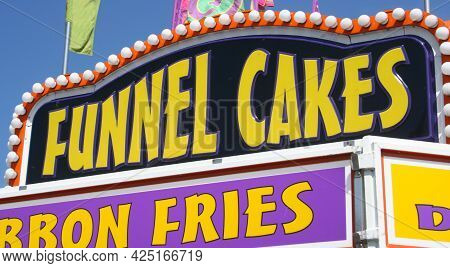 Food Vendor At County Fair Funnel Cakes