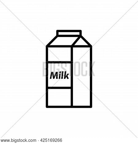 Packaging Container Or Milk Pack Icon. Milk Carton Box Or Packet Paper Box. Trendy Flat Isolated Out