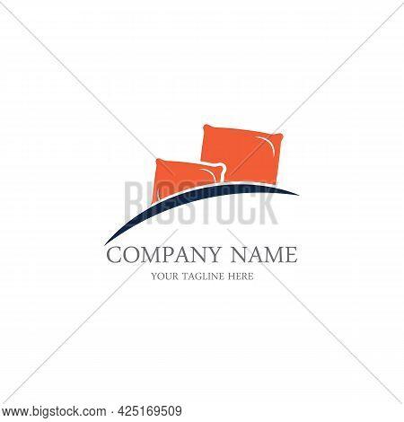 Bed Logo Vector Illustration Design Template.bed Logo Vector
