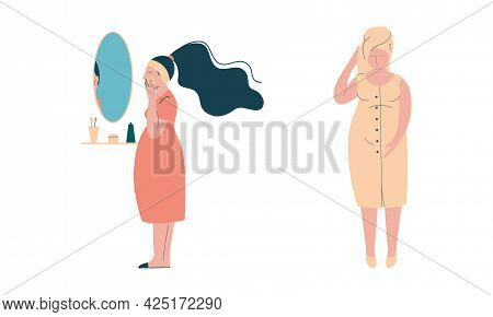 Pregnant Woman Lifestyle With Happy Expectant Mother During Pregnancy Having Bathing Procedure And A