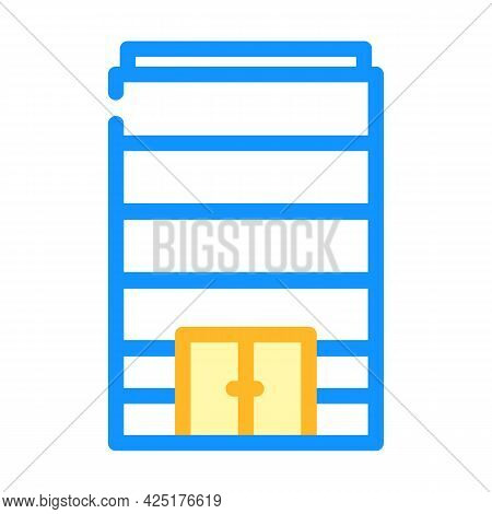 Without Windows Modern House Color Icon Vector. Without Windows Modern House Sign. Isolated Symbol I