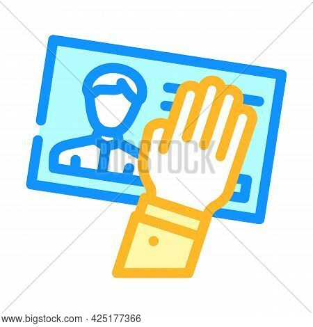 Client Data Theft Kyc Color Icon Vector. Client Data Theft Kyc Sign. Isolated Symbol Illustration
