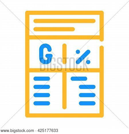 Ratio In Grams And Percent Color Icon Vector. Ratio In Grams And Percent Sign. Isolated Symbol Illus