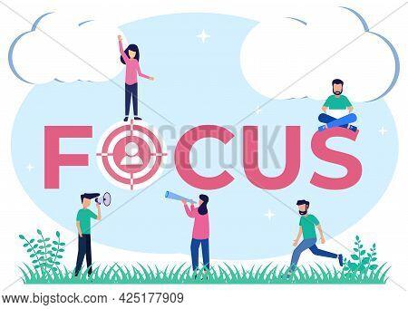 Vector Illustration Focusing On Work Goals And Best Job Performance Making A Profit. Success Score F
