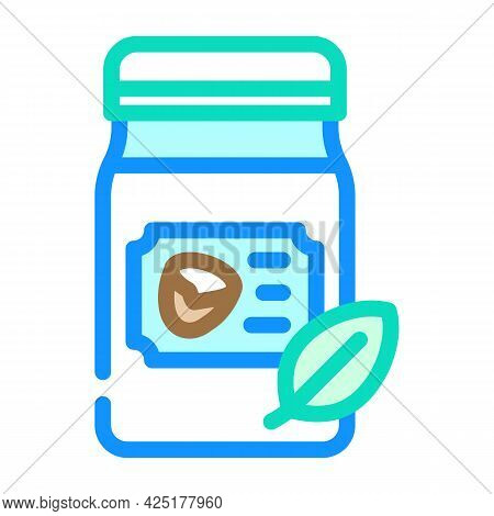 Pure Coconut Oil For Hair And Skin Color Icon Vector. Pure Coconut Oil For Hair And Skin Sign. Isola
