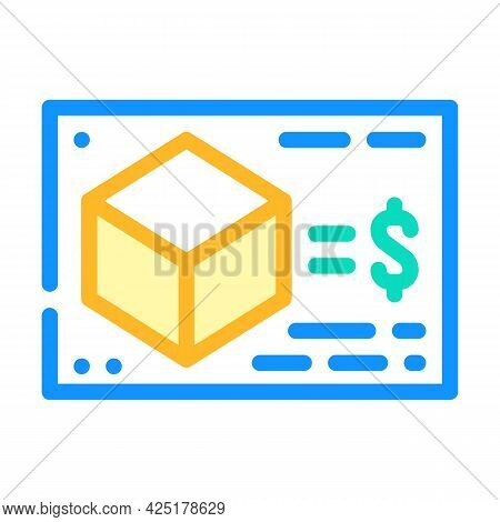 Calculating Cost Of Production Color Icon Vector. Calculating Cost Of Production Sign. Isolated Symb