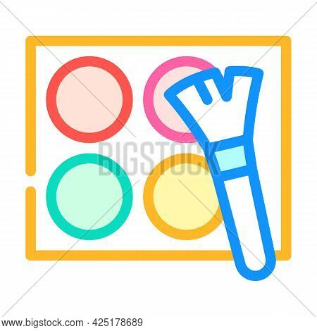 Makeup Cosmetics Stylist Color Icon Vector. Makeup Cosmetics Stylist Sign. Isolated Symbol Illustrat