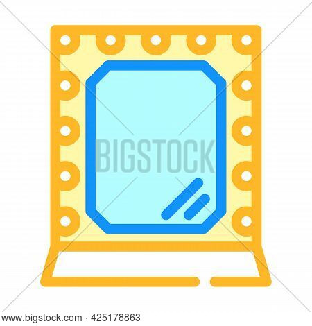 Mirror Stylist Color Icon Vector. Mirror Stylist Sign. Isolated Symbol Illustration