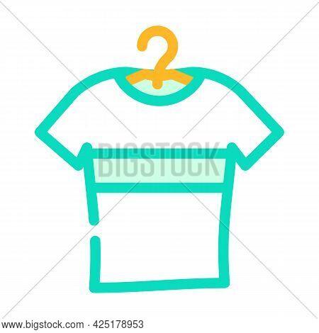 T-shirt Stylish Color Icon Vector. T-shirt Stylish Sign. Isolated Symbol Illustration
