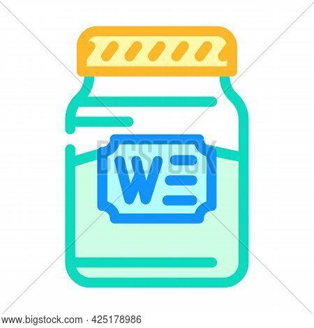 Bottle Jar Wasabi Color Icon Vector. Bottle Jar Wasabi Sign. Isolated Symbol Illustration