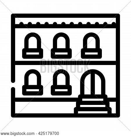 Arabian House Line Icon Vector. Arabian House Sign. Isolated Contour Symbol Black Illustration