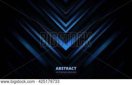 3d Modern Dark Blue Futuristic Abstract Geometric Background. Luxury Three-dimensional Navy Blue Bac