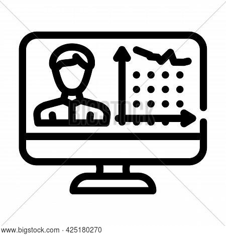 Client Activity Analysis Kyc Line Icon Vector. Client Activity Analysis Kyc Sign. Isolated Contour S