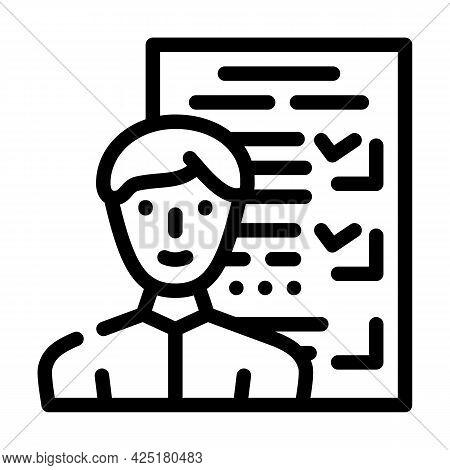 Customer Questionnaire Kyc Line Icon Vector. Customer Questionnaire Kyc Sign. Isolated Contour Symbo