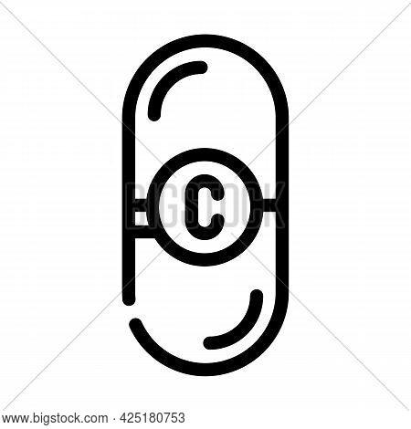 Vitamin C Nutrition Line Icon Vector. Vitamin C Nutrition Sign. Isolated Contour Symbol Black Illust