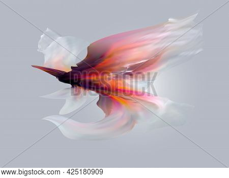 Empty White Room. The Inner Space Of The Box. Vector Design Illustration. Mock Up For You Business P