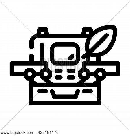 Case With Makeup Line Icon Vector. Case With Makeup Sign. Isolated Contour Symbol Black Illustration
