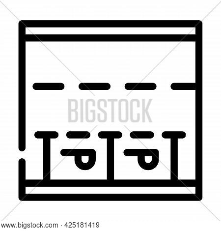 Parking Places On Road Line Icon Vector. Parking Places On Road Sign. Isolated Contour Symbol Black