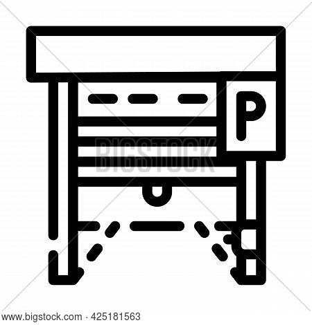 Automatically Parking Gates Line Icon Vector. Automatically Parking Gates Sign. Isolated Contour Sym