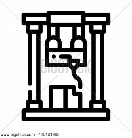First Sample Production Line Icon Vector. First Sample Production Sign. Isolated Contour Symbol Blac
