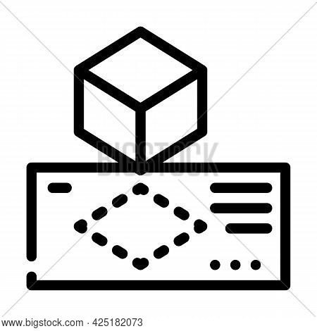 Creating Templates Line Icon Vector. Creating Templates Sign. Isolated Contour Symbol Black Illustra
