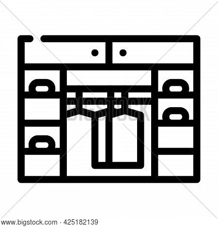 Cupboard Stylist Line Icon Vector. Cupboard Stylist Sign. Isolated Contour Symbol Black Illustration