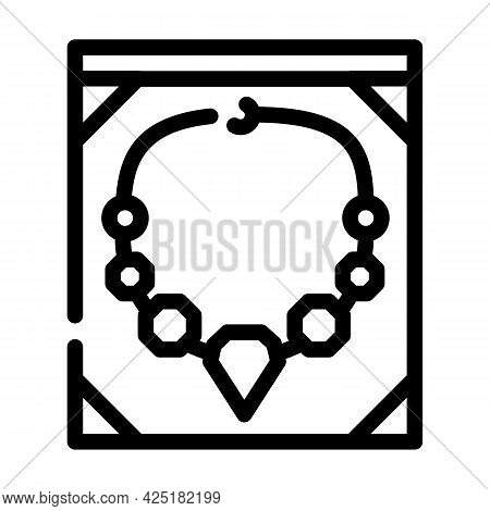 Jewelry Style Line Icon Vector. Jewelry Style Sign. Isolated Contour Symbol Black Illustration