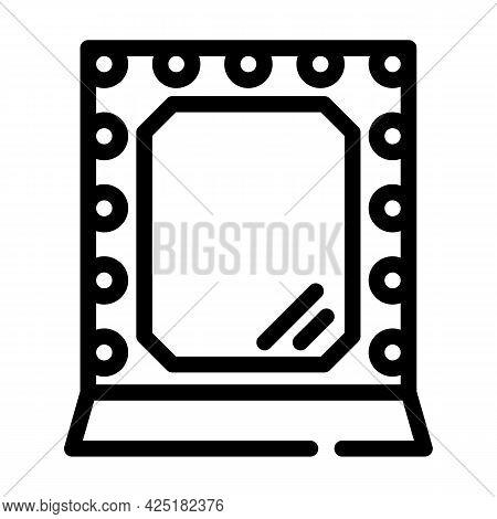 Mirror Stylist Line Icon Vector. Mirror Stylist Sign. Isolated Contour Symbol Black Illustration