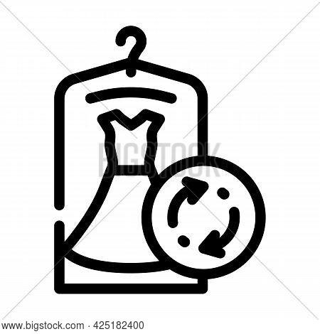 Dress Rent Service Line Icon Vector. Dress Rent Service Sign. Isolated Contour Symbol Black Illustra