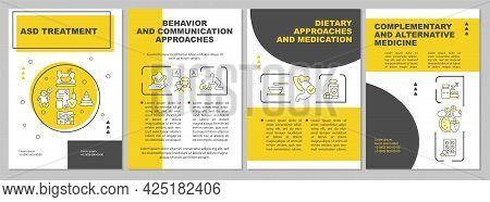 Asd Treatment Brochure Template. Behavioral Disorder. Flyer, Booklet, Leaflet Print, Cover Design Wi