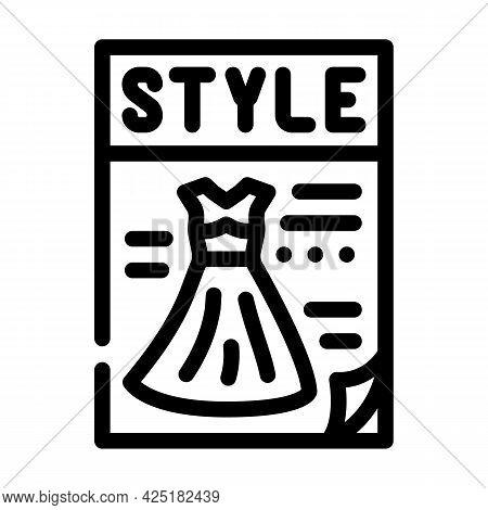 Magazine Style Line Icon Vector. Magazine Style Sign. Isolated Contour Symbol Black Illustration