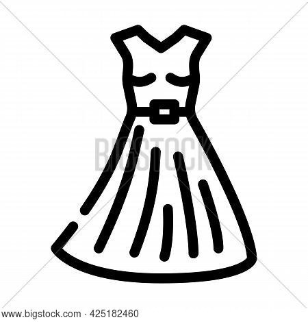 Dress Stylist Line Icon Vector. Dress Stylist Sign. Isolated Contour Symbol Black Illustration