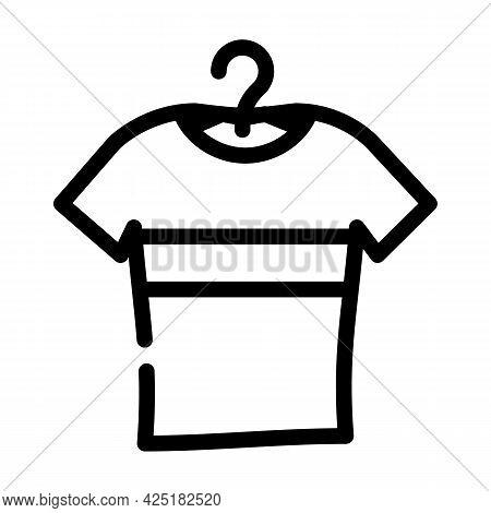 T-shirt Stylish Line Icon Vector. T-shirt Stylish Sign. Isolated Contour Symbol Black Illustration